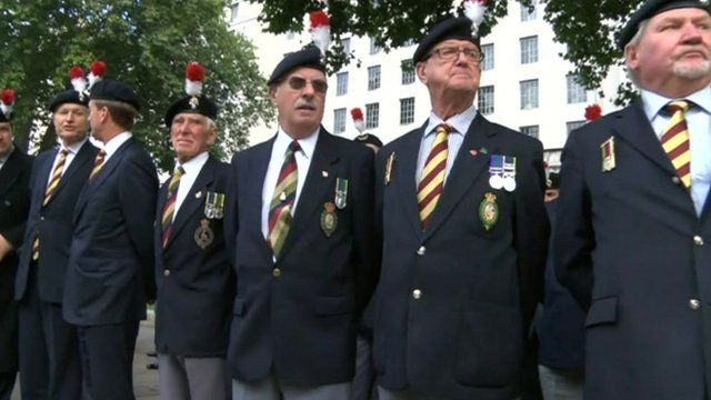 Veterans from the second battalion of the Royal Regiment of Fusiliers