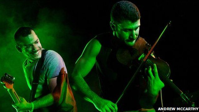 Guitarist Firas Abou Fakher and violinist Haig Papazian