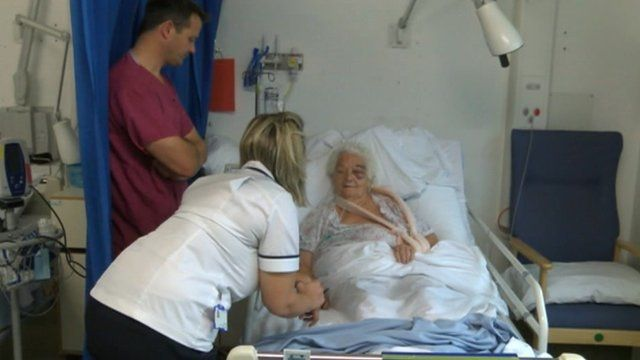 Hip replacement patient at Southampton General Hospital