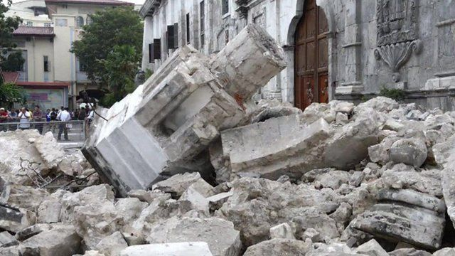 Aftermath of the Philippines earthquake