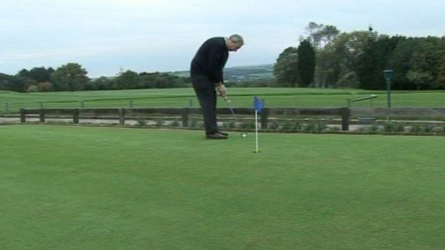 Golf been played at a Welsh club