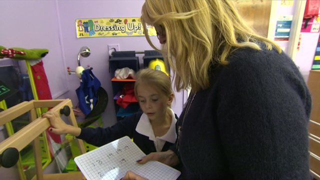 A parent and child learning together