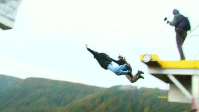 Watch this video of base jumpers in America
