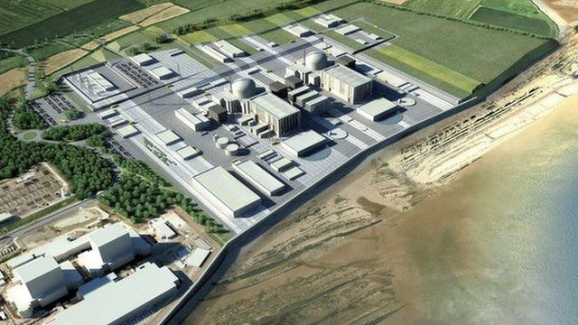 Artist's image of the Hinkley Point C plant