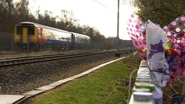 Train at the Moor Bridge crossing in Bestwood