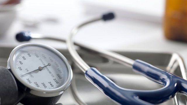 Close up of a sphygmomanometer and stethoscope