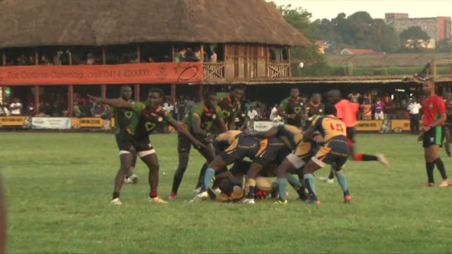 Rugby players in Uganda