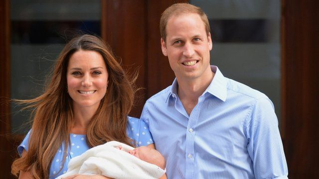 The Duke and Duchess of Cambridge leave hospital with newborn Prince George