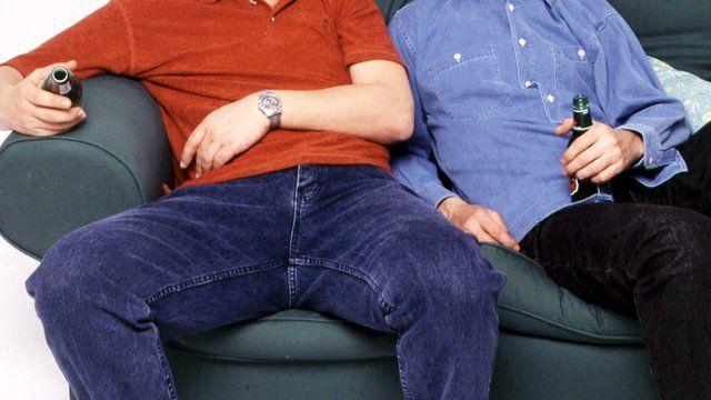 Men on sofa