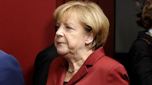 Germany's Chancellor Angela Merkel in Brussels on 24 October