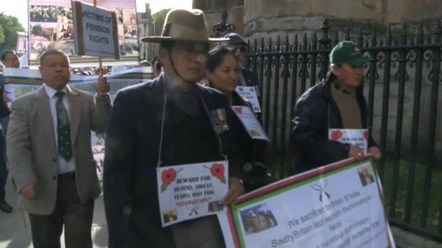 Gurkhas march on Westminster over equal pensions rights