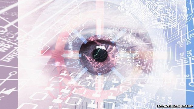 Conceptual computer artwork to represent surveillance