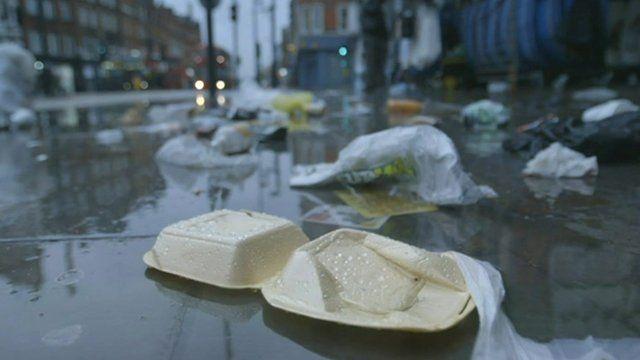 Litter on street