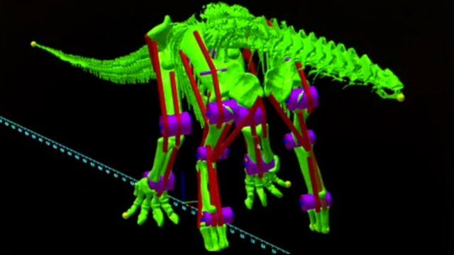 Digital robot of the dinosaur Argentinosauruus
