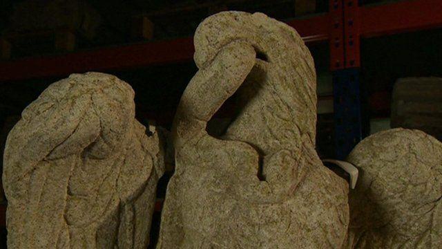 Roman eagle sculpture