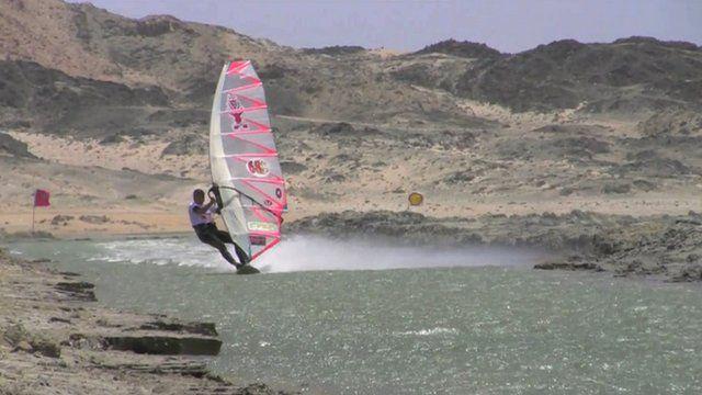 Windsurfer Martyn Ogier