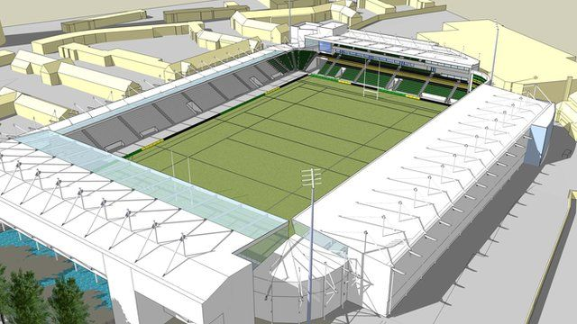 Artist's impression of the new North Stand