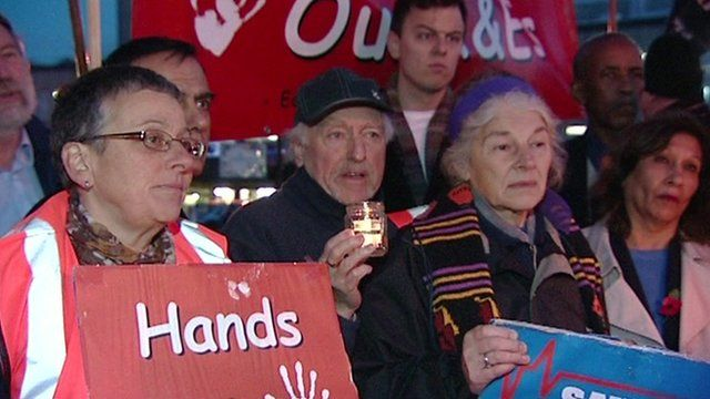 Protesters against plans to downgrade Ealing's A&E