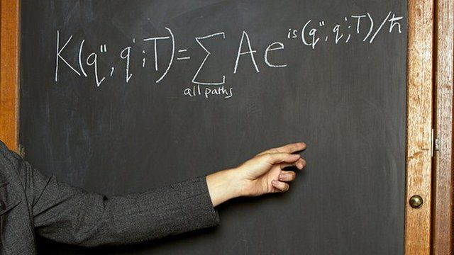 Blackboard with equation on