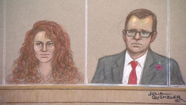 Rebekah Brooks and Andy Coulson in the dock at the phone hacking trial