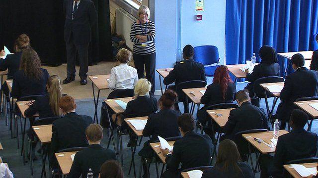 Pupils sitting exam