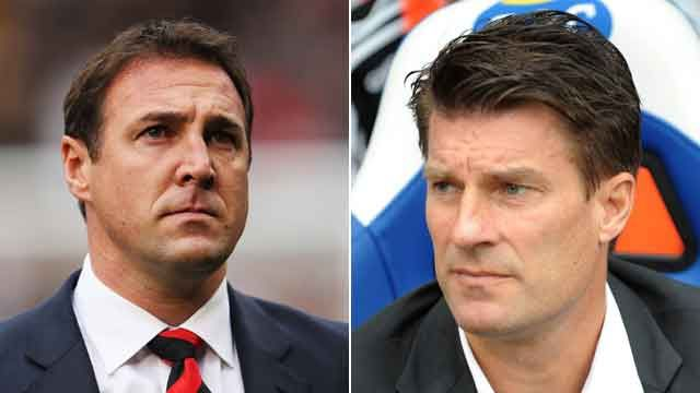 Malky Mackay and Michael Laudrup