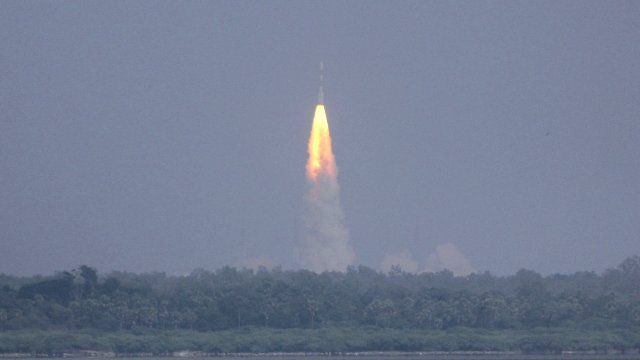 Rocket probe to Mars launched in India