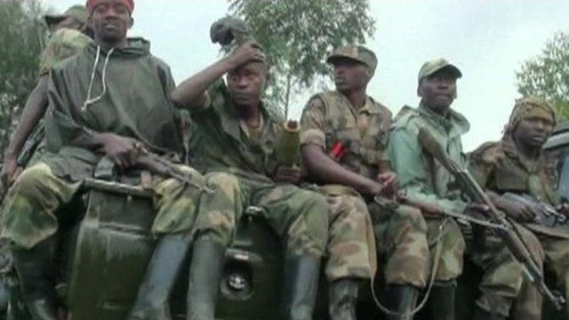 Armed men on truck in DR Congo