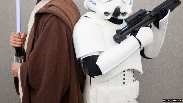 People dressed up in Star Wars costume