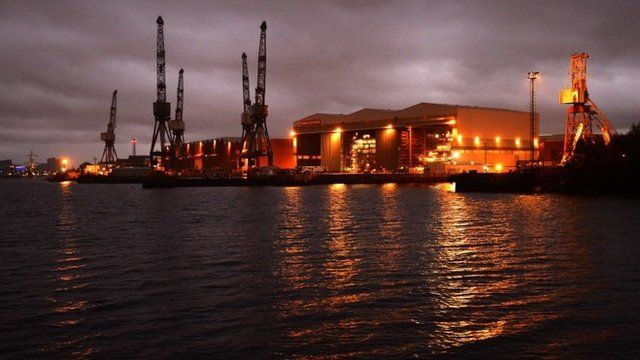 BAE systems yard at Govan