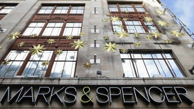 Marks and Spencer store with Christmas decorations