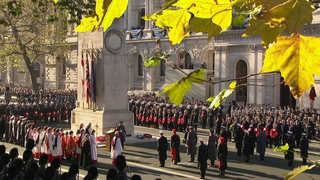 Remembrance Sunday ceremony at the Cenotaph