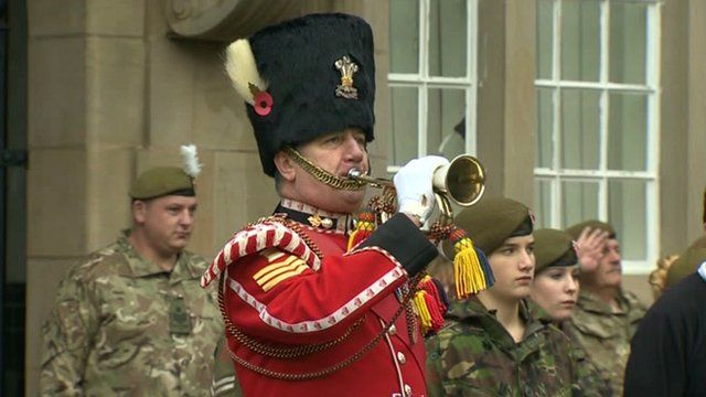 The Last Post is played in Wrexham