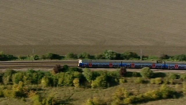 Train in the countryside