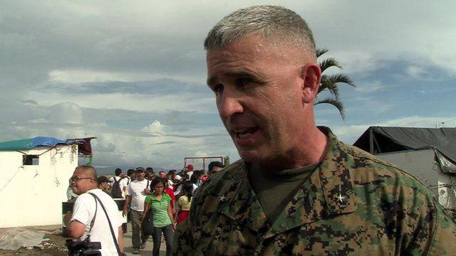 Gen Paul Kennedy, commander of US Marine Taskforce