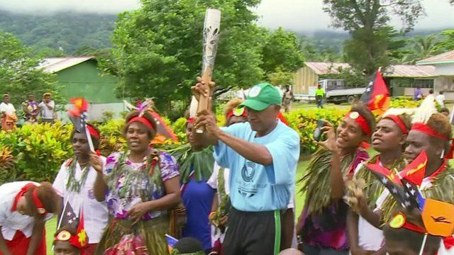 The Commonwealth Games baton has arrived in Papua New Guinea