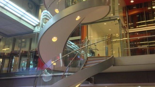 The Spiral stairs at New Broadcasting House