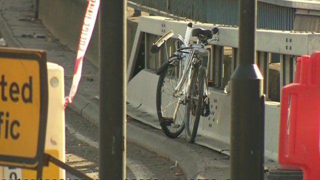 Damaged bicycle