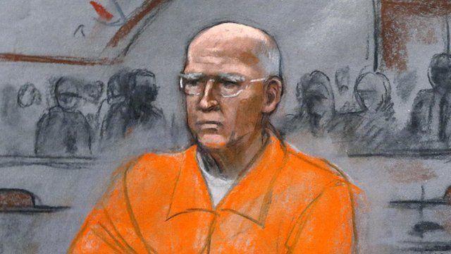 """Courtroom sketch of James """"Whitey"""" Bulger"""