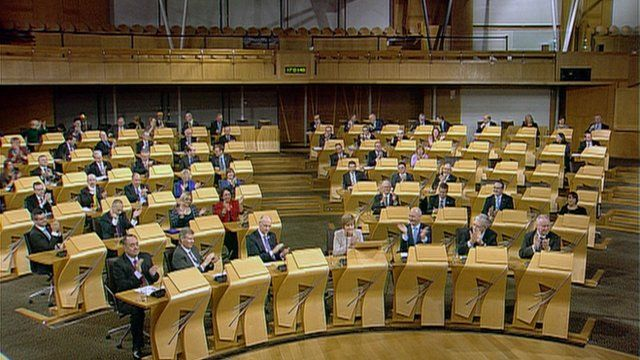 MSPs in the Scottish Parliament