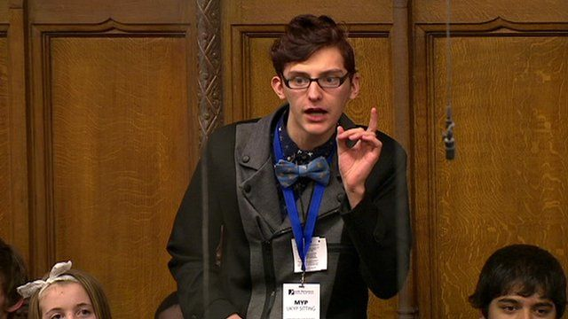 A member of the UK Youth Parliament