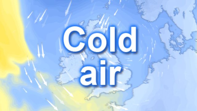 Cold air over the UK