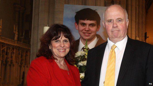 Jimmy Mizen's parents Barry and Margeret