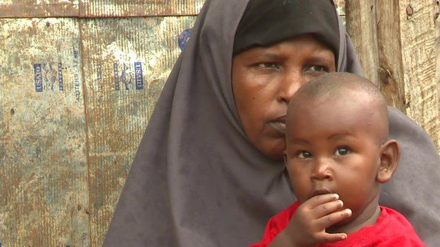 Woman and child in Dadaab refugee camp