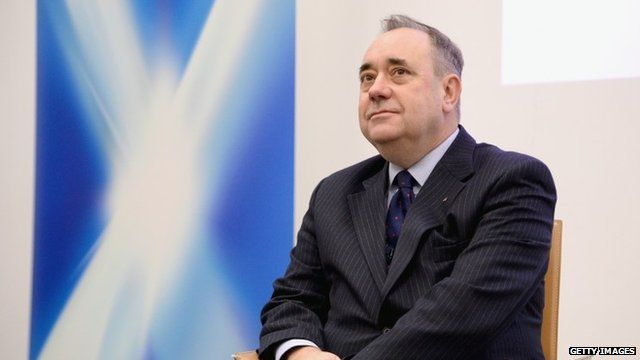 Alex Salmond and Saltire poster