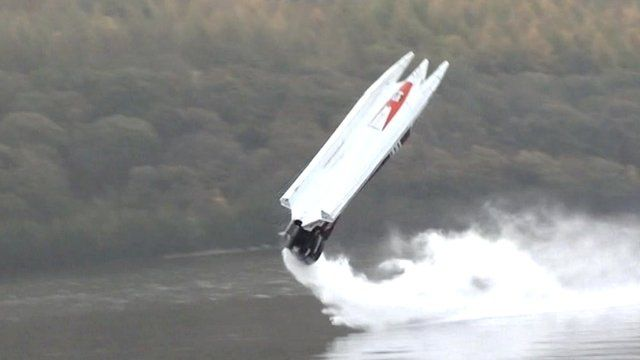 Keith Whittle's powerboat flips over