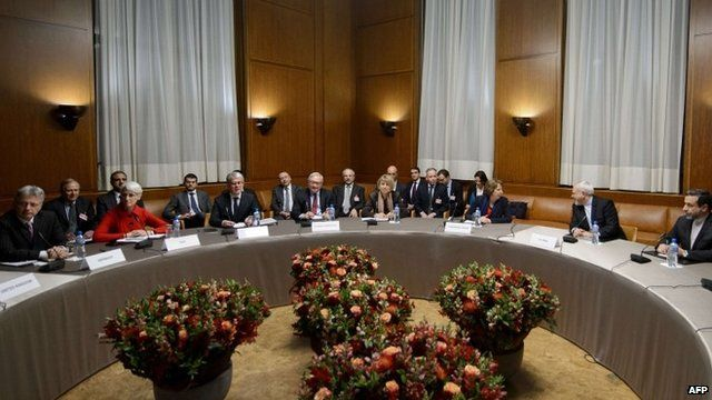 International officials at round table