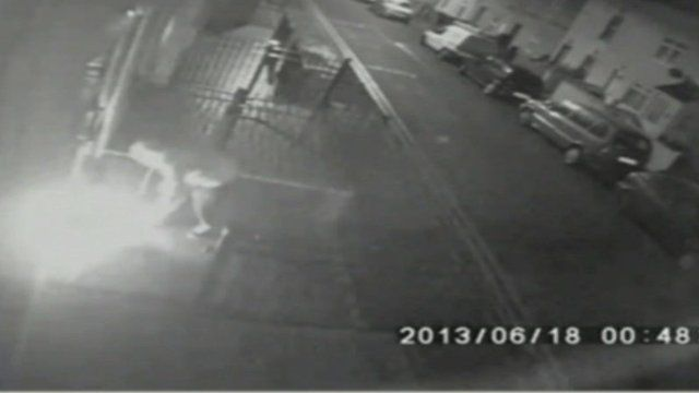 CCTV footage of arson attack