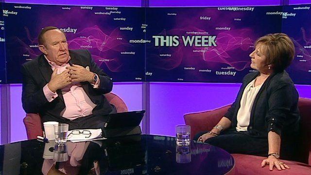 Andrew Neil and Delia Smith