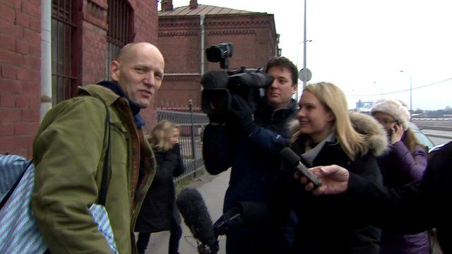 Frank Hewetson pictured on leaving prison